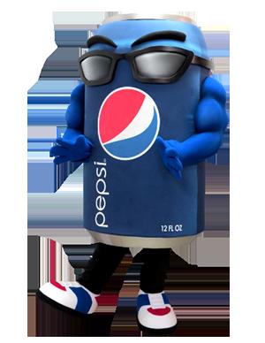 Pepsi Brand Can Custom Mascot