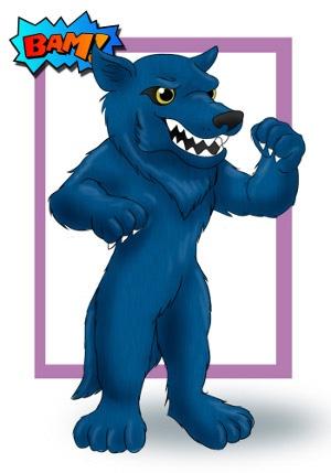 Wolf Custom Mascot Concept Art