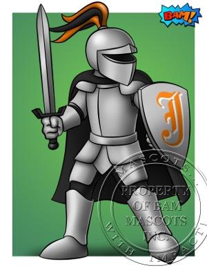 Knight Armor Custom Mascot Concept