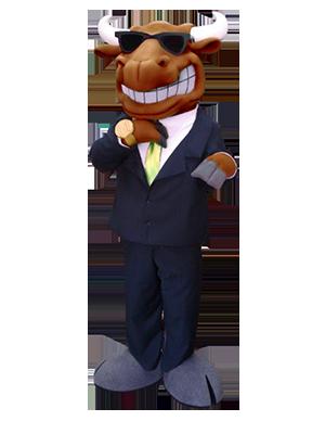 Bull in Suit Custom Mascot Creation