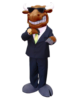 Bull in Suit Custom Mascot Creation