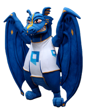Blue Dragon Mascot