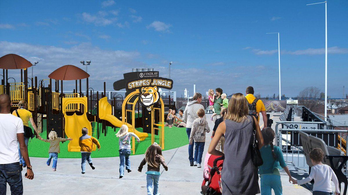 The Hamilton Tiger-Cats use their mascot to expand branding by creating Stripes' Jungle