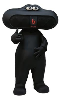 Beats by Dre Pill Custom Mascot