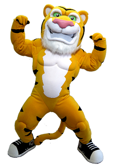 You can't ignore the Hamilton Tiger Cats Tiger Mascot