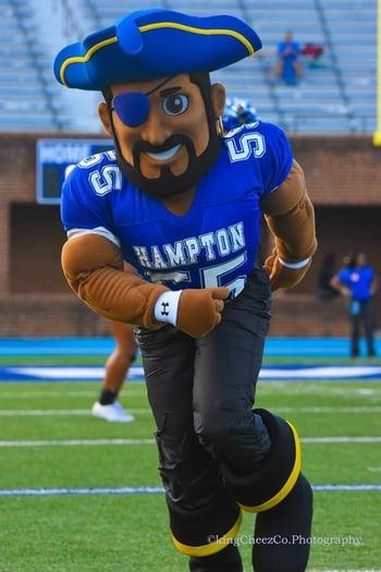Hampton University Pirate mascot