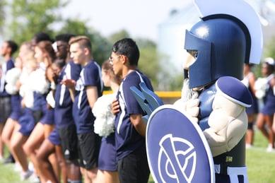 Iowa Central Community College Triton mascot at sports game