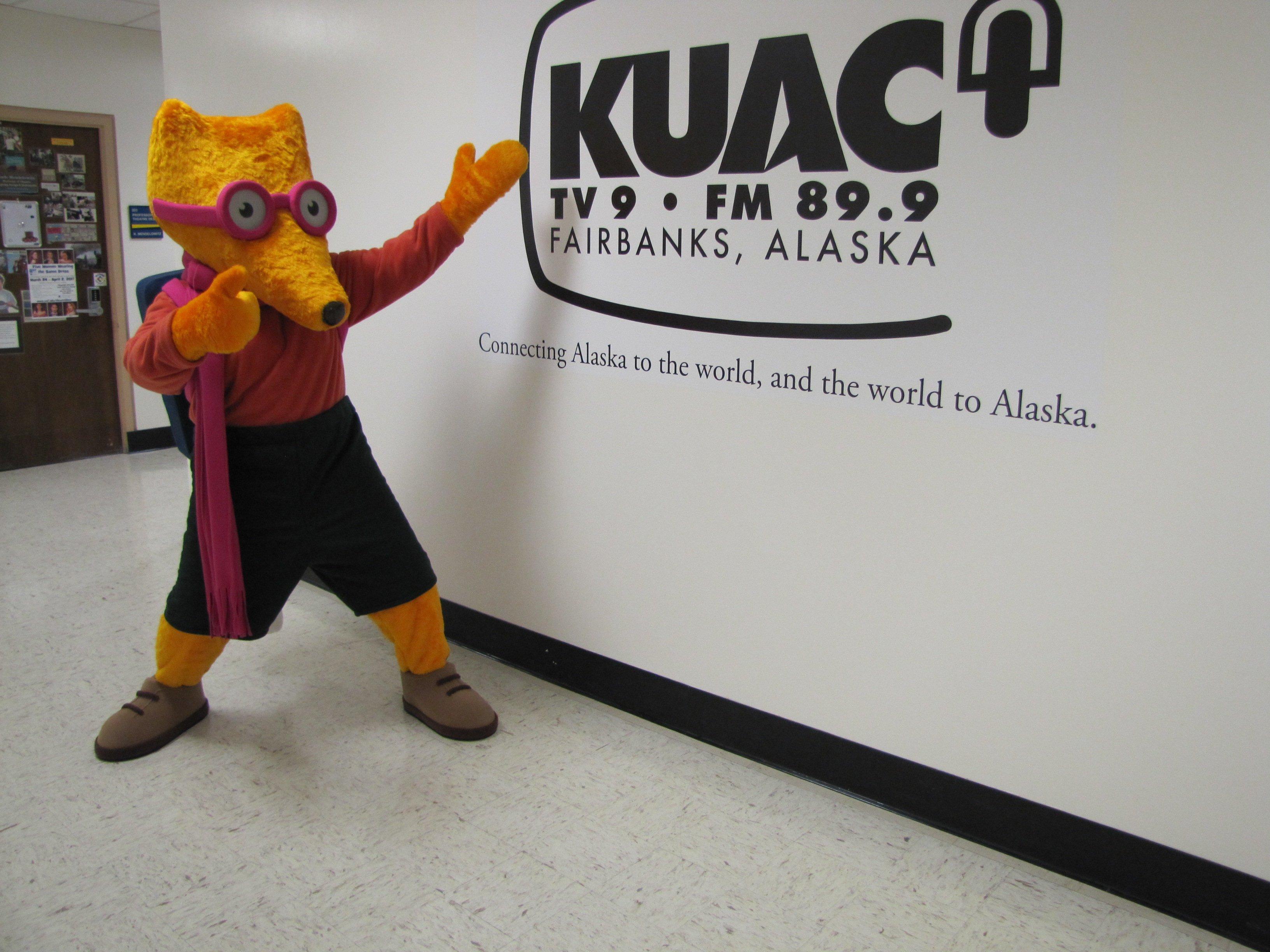 KUAC Kitt the Fox mascot