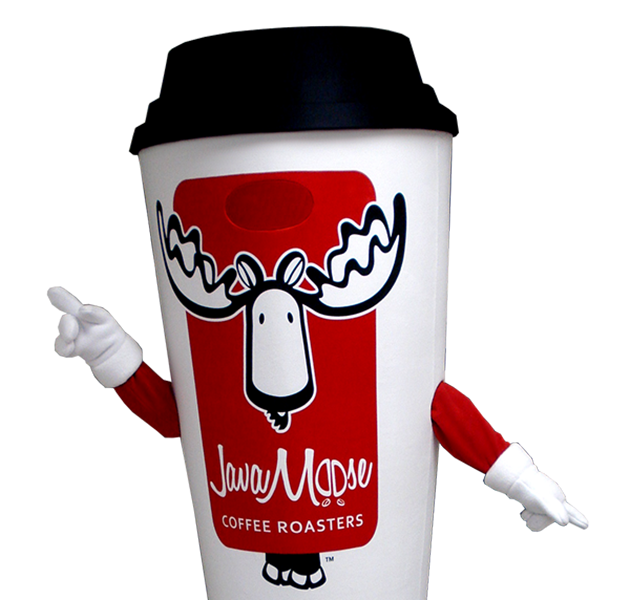 Coffee Cup Mascot Costume
