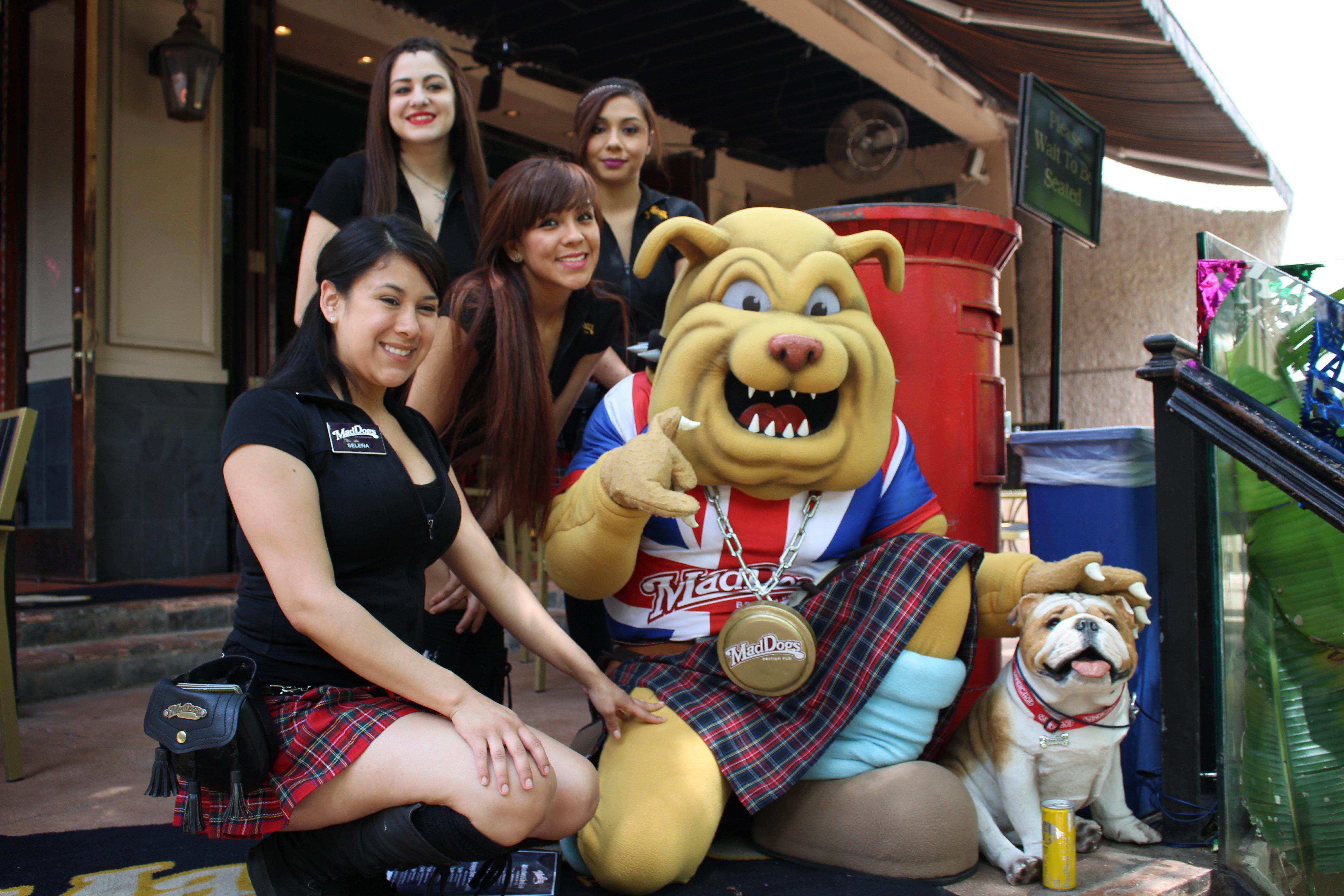 MadDogs British Pub Winston the Bulldog mascot