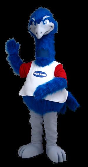 Blue Emu Mascot Creation