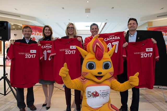 Canada Summer Games BAM Mascot at Sponsors Event