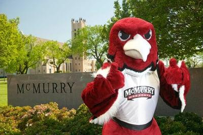McMurry War Hawk mascot