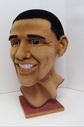 Obama mascot head