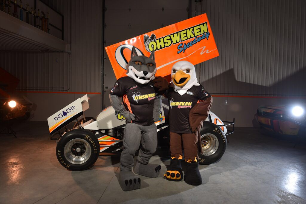 Ohsweken Speedway Fang & Claw mascots