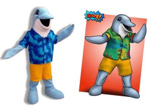 Splash Down Dolphin mascot