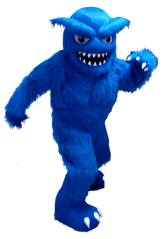 Blue Monster Creature Custom Mascot Costume