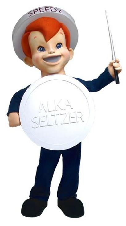 Speedy Alka Seltzer Custom Mascot