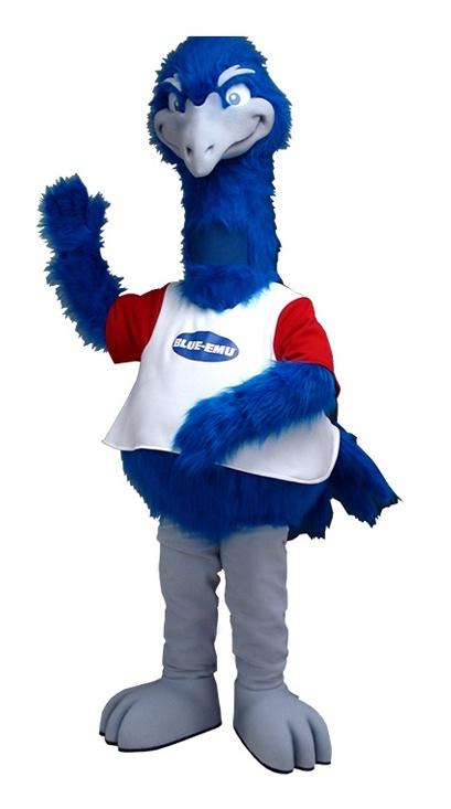 Blue Emu Custom Mascot