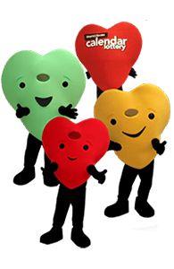 Heart and Stroke Hearts Custom Mascot