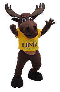 University of Main at Augusta Moose Custom Mascot