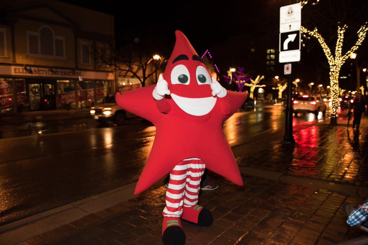 Twinkle the mascot attending Burlington's Festival of Lights