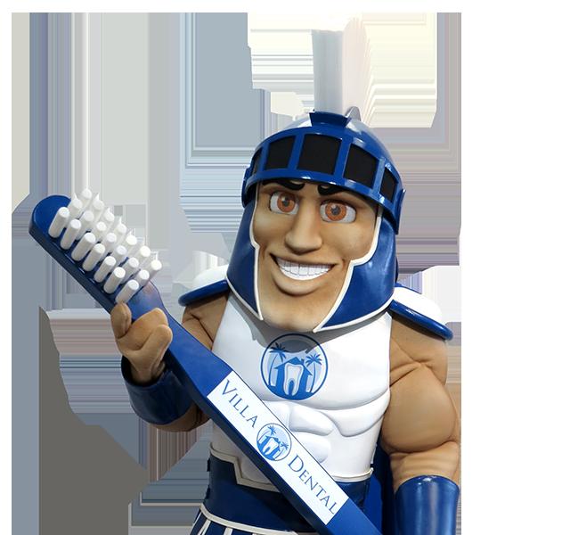 Villa Dental Spartan Custom Mascot Company