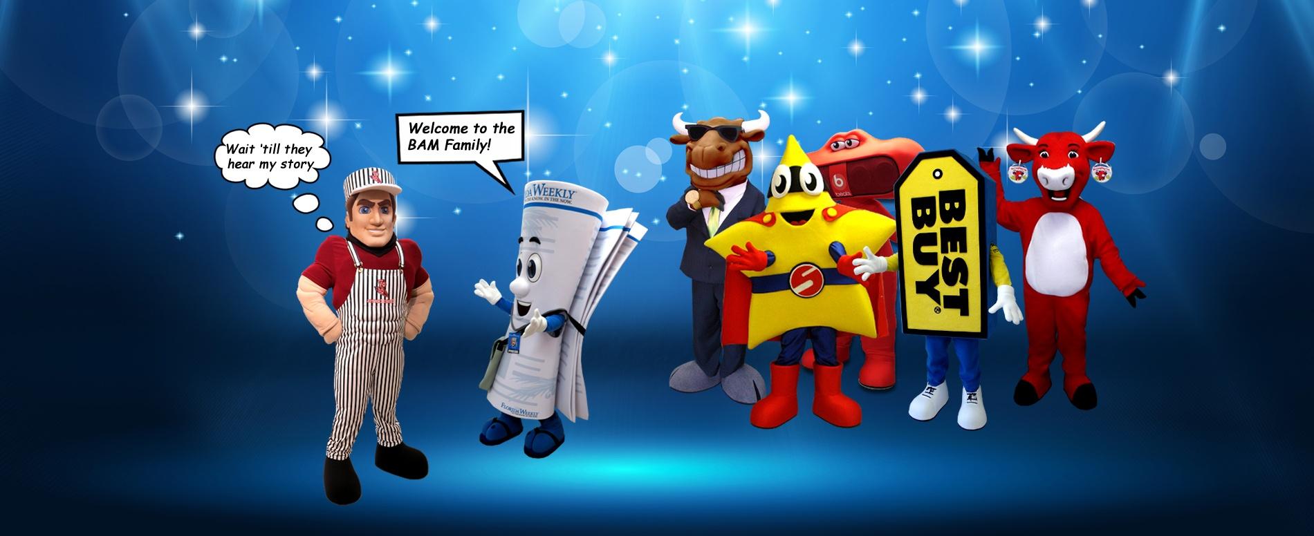 BAM! Mascots - Custom Mascot Design