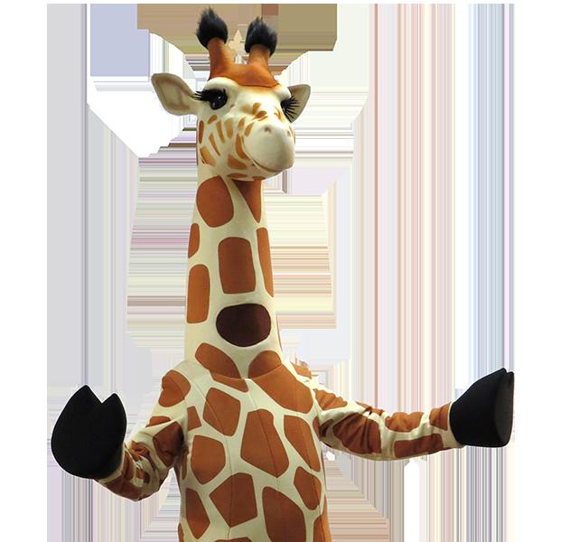 Giraffe Zoo Custom Mascot Costume