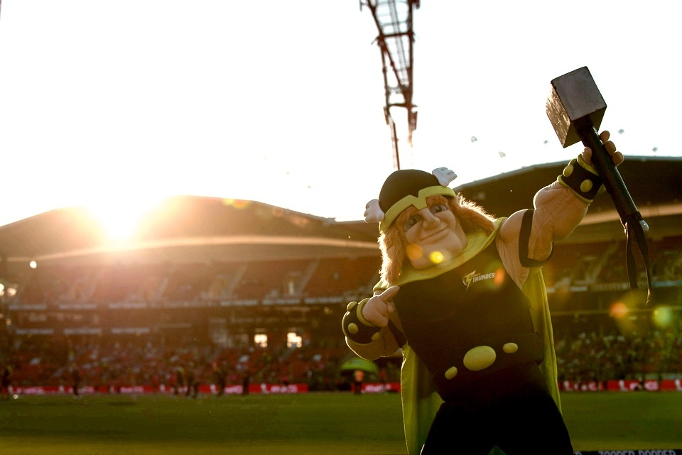 The Sydney Thunder Mascot in Australia